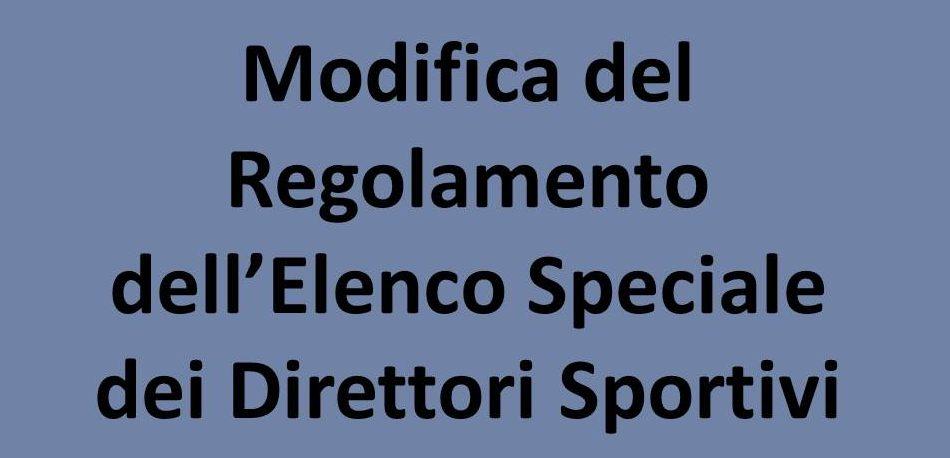 L'introduzione Della Commissione Dirigenti E Collaboratori Sportivi