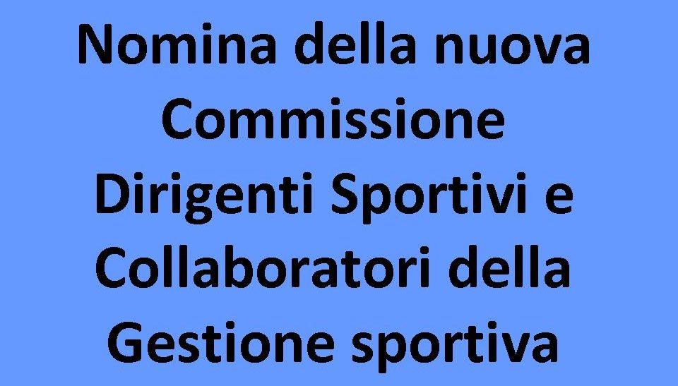 La Nuova Commissione Dirigenti E Collaboratori Sportivi
