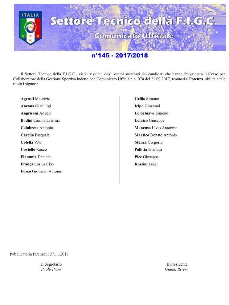 Abilitazione Nuovi CGS Del Corso Di Potenza