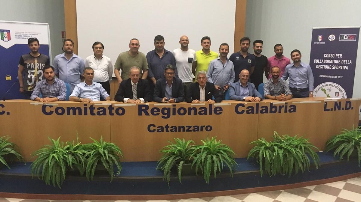 I Collaboratori Della Gestione Sportiva Abilitati Al Corso Di Catanzaro