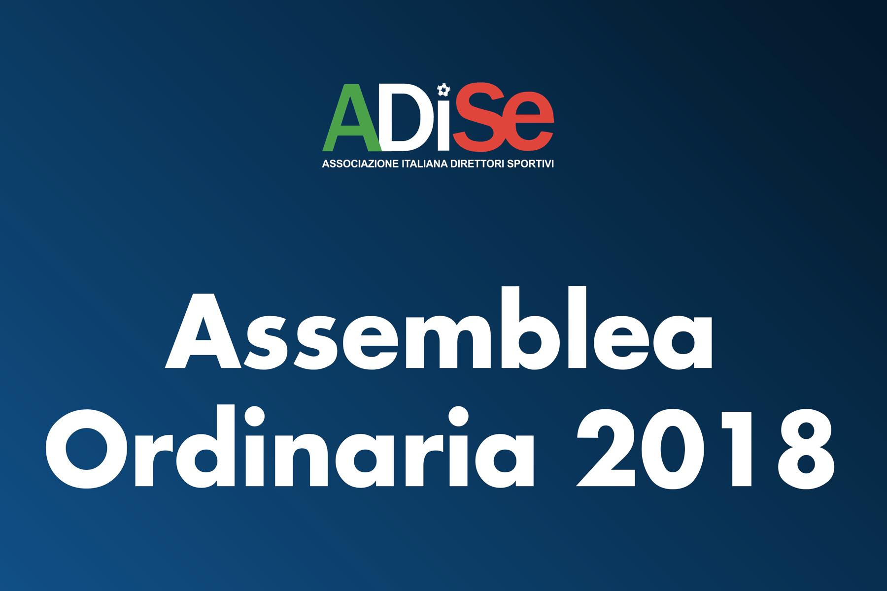 IL 26 NOVEMBRE 2018 A MILANO L'ASSEMBLEA ORDINARIA